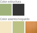 Colores silla pala abatible escolar