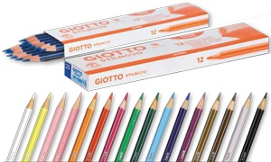 Lápices Giotto unicolor caja 12 ud