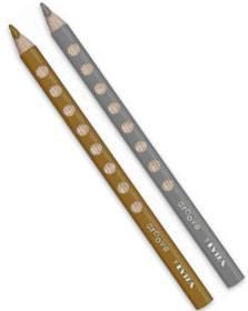 Lápices oro-plata