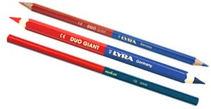 Lápices bicolor azul/rojo