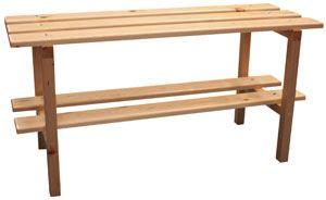 Banco de vestuario sencillo de madera