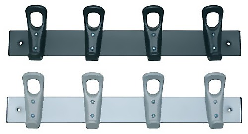 Perchero metal 4 colgadores ABS