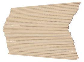 Palillos de madera redondos