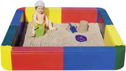 Piscina de arena cuadrada
