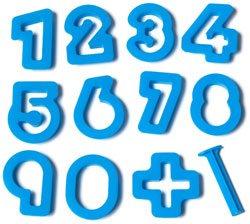 Set moldes números