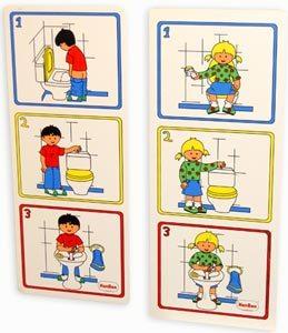 Láminas higiene el aseo niño