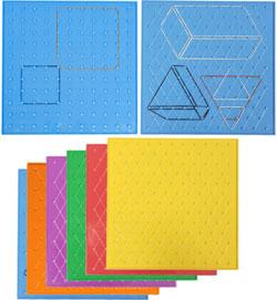 Geoplanos cuadrados + isométricos 6 ud
