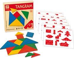 Tangram 4 unidades madera