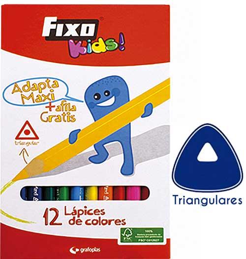 Lápices triangulares gruesos 12 col.