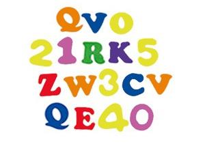 Eva adhesivo letras y números 170 ud
