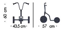 Patinete 3 ruedas funny para guarderías detalle 1
