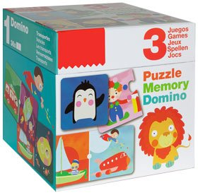 Pack puzzle domin� y memory