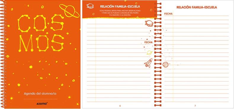 Agenda escolar COSMOS espiral