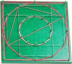 Geoplano círculo