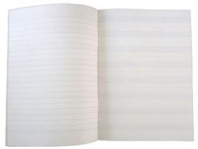 Cuaderno de música grapado