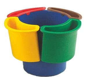 Papelera con 4 selectores reciclaje