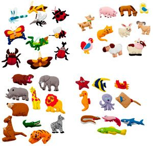 Pack velcro animales
