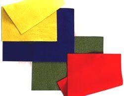 Fieltro 5 colores surtidos, 10 ud. 30x21 cm