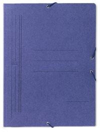 Carpeta cartón folio azul sin solapas