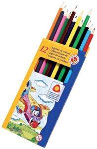 Lápices triangulares de colores 12 ud