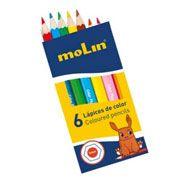 Lápices de color cortos económicos 6 colores