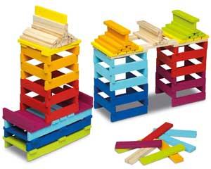 Construpack 70 piezas de madera