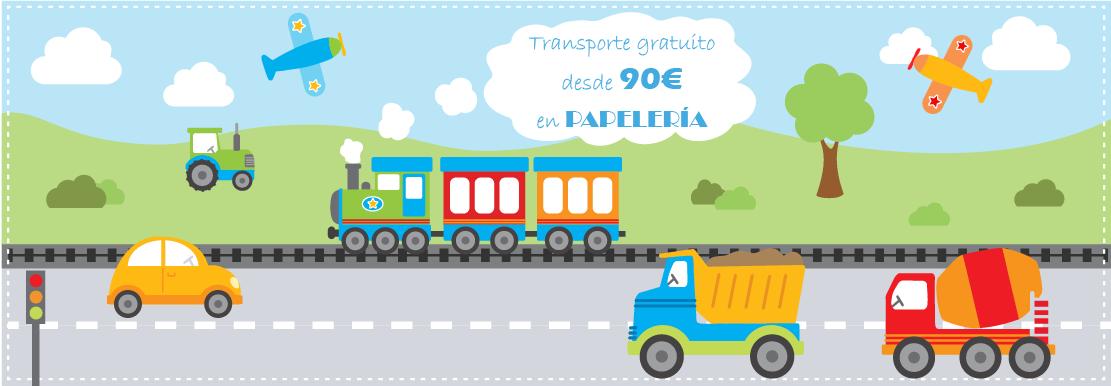Transporte Gratuito en papeleria a partir de 90€