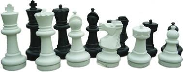 Piezas ajedrez gigantes