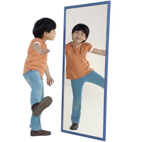 Espejo irrompible 120 x 50 cm marco madera