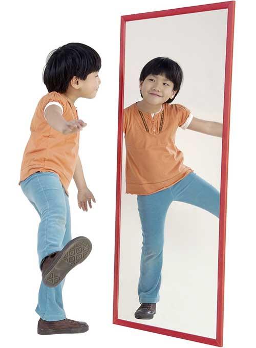 Espejo irrompible 120x50 cm marco madera