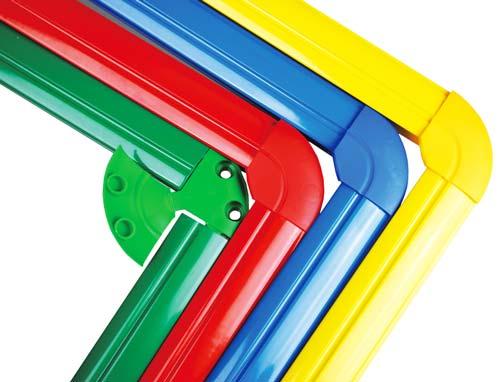 Espejo irrompible 45 x 45 cm marco aluminio detalle 2