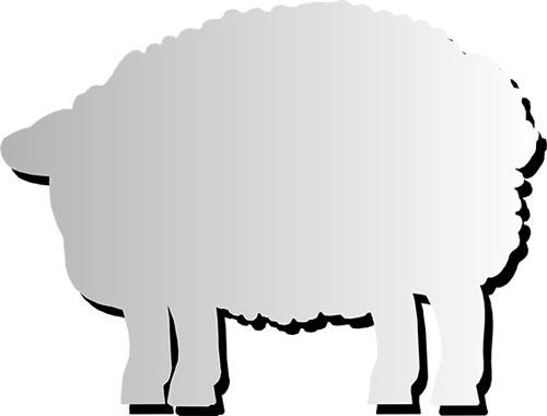 Espejo de pared animales 65 x 50 cm detalle 9