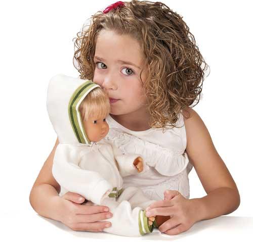 Muñecos europeos con pelo 40 cm detalle 2