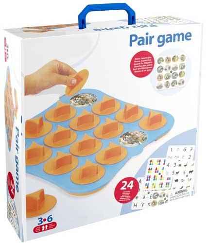 Pair Game detalle de la caja