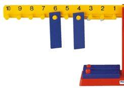 Detalle balanza numérica