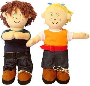 Muñecos abroches europeos