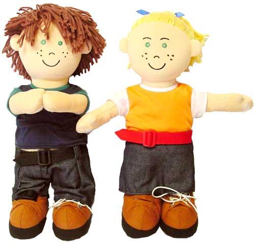 Muñecos de abroches europeos