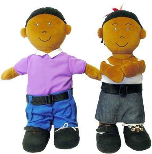 Muñecos de abroches africanos