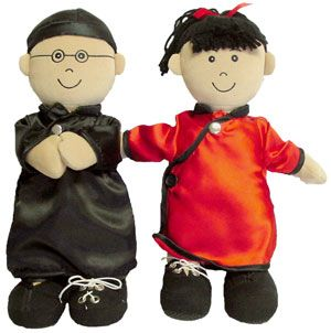 Muñecos abroches asiáticos