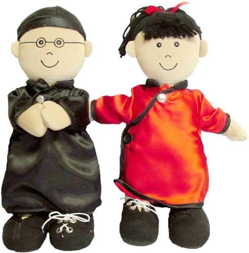 Muñecos de abroches asiáticos