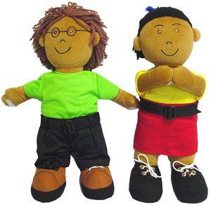 Muñecos abroches sudamericanos