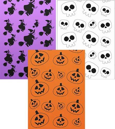 Bolsas disfraz Halloween impresas dos caras 65×90 cm 5 ud