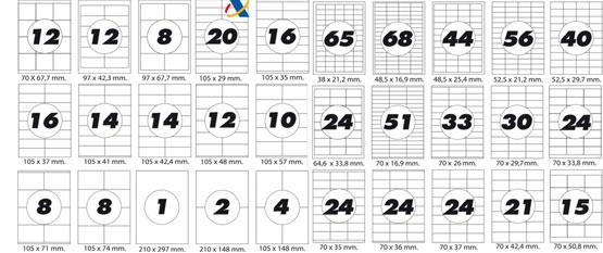 Modelos de etiquetas para fotocopiadora