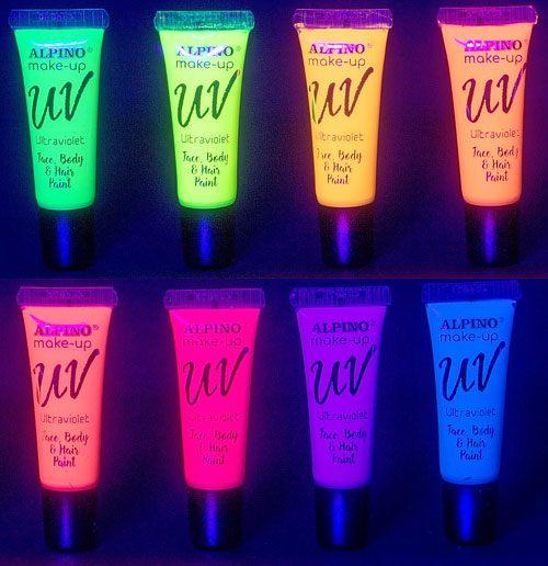 Maquillaje ultravioleta tubos 10 ml detalle 1