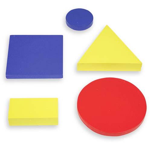 Bloques lógicos madera 48 piezas
