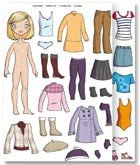 Gomets vestirse niña