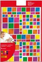 Gomets multicolor cuadrados metal