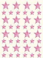 Gomets estrella holográfico rosa