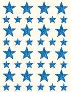 Gomets estrella holográfico azul