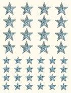 Gomets estrella holográfico plata